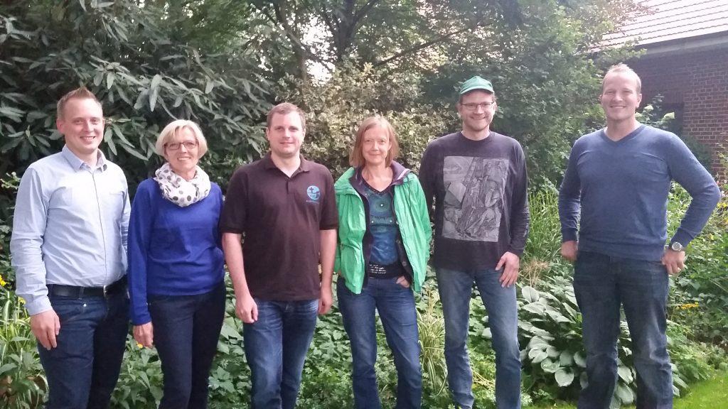 In Messingen-Brümsel trafen sich zum Austausch Sebastian Bartels, Bärbel Ruhara, Erwin Schmit, Marita Wiggerthale, Bernhard Barkmann und Matthias Everinghoff