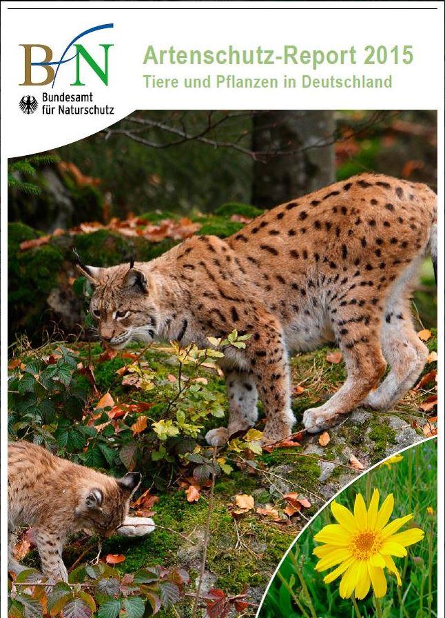 Titelbild des Artenschutz-Reports 2015