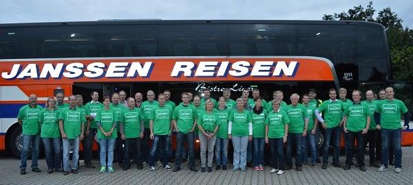Letzte Woche noch in Brüssel, morgen in Hannover: viele demonstrierende Bauern aus dem Emsland, der Grafschaft Bentheim und Ostfriesland (Foto: Maren Ziegler, LHV Ostfriesland)