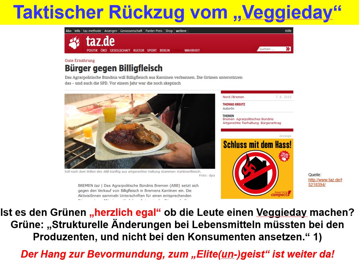 """Parteitagsbeschluss: Veggie-Day ist den Grünen ab sofort """"herzlich egal"""""""