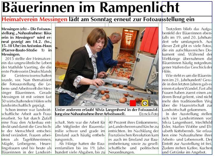 Bäuerinnenausstellung_Zeitungbericht