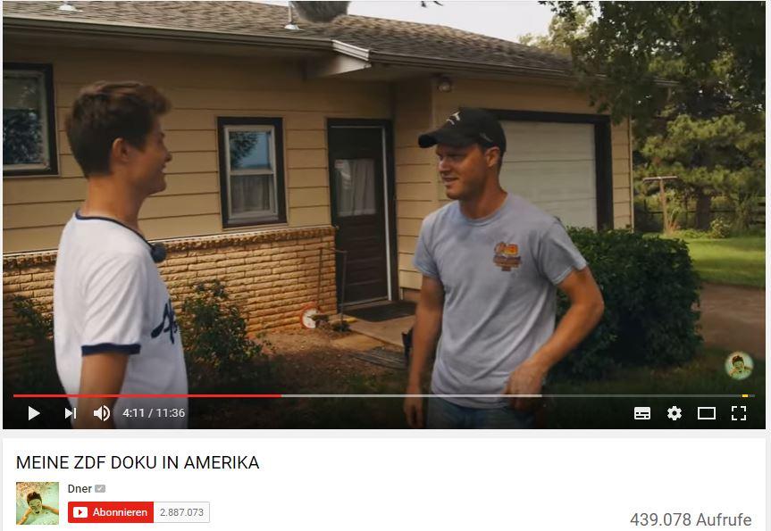 YouTube-Stars unter sich: Dner interviewt Greg Peterson (rechts)
