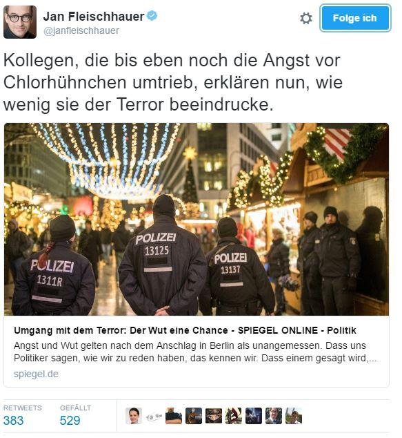 Relative Angst: Terror vs. Chlorhühnchen