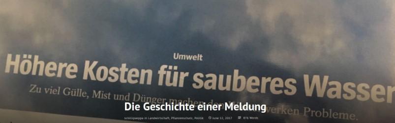 Screenshot Spiegelüberschrift