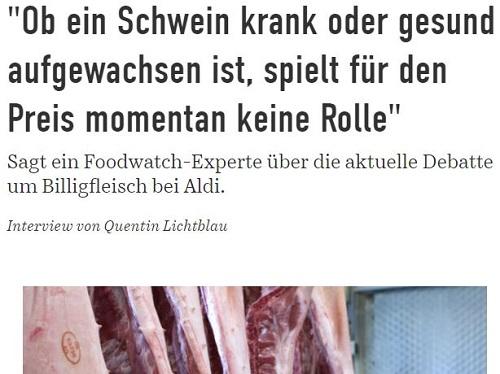 Interview von Quentin Lichtblau, jetzt, mit Matthias Wolfschmidt von Foodwatch