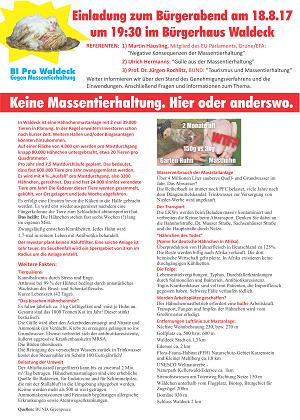 "Flyer der Bürgerinistiative ""Pro Waldeck"""