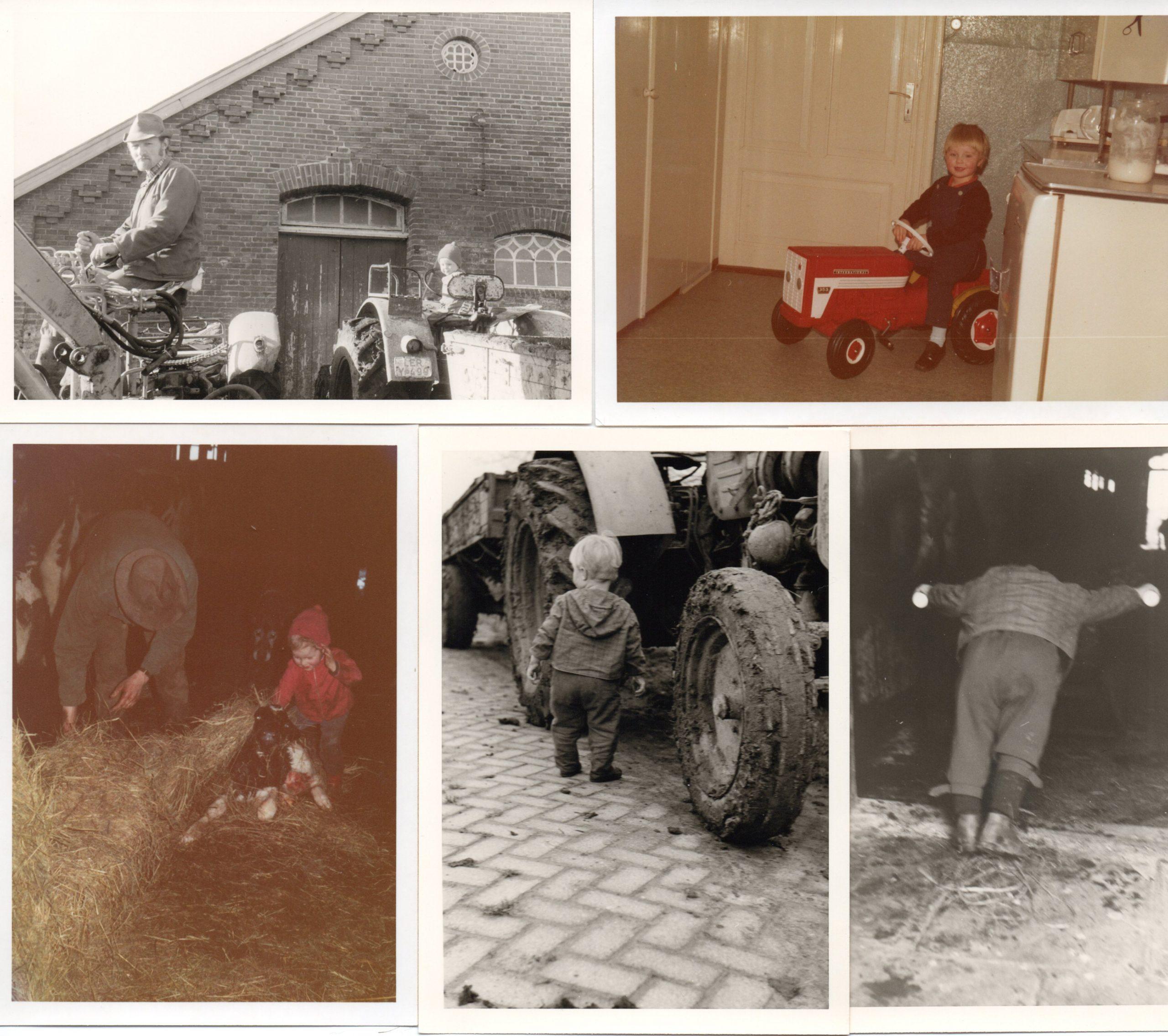 Bilder aus den 70ern. Bauernhof, ein schöner Ort groß, zu werden