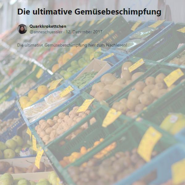 Die ultimative Gemüsebeschimpfung hier zum Nachlesen!