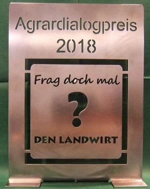 Foto vom Agrardialogpreis 2018