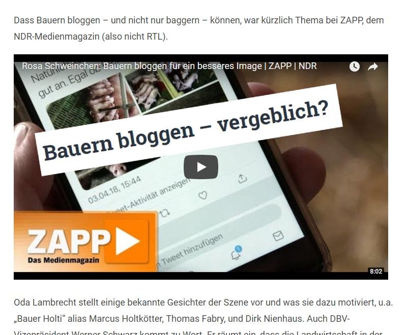 Rainer Winter beschäftigt sich mit dem TV-Beitrag vom Medienmagazin ZAPP (NDR)