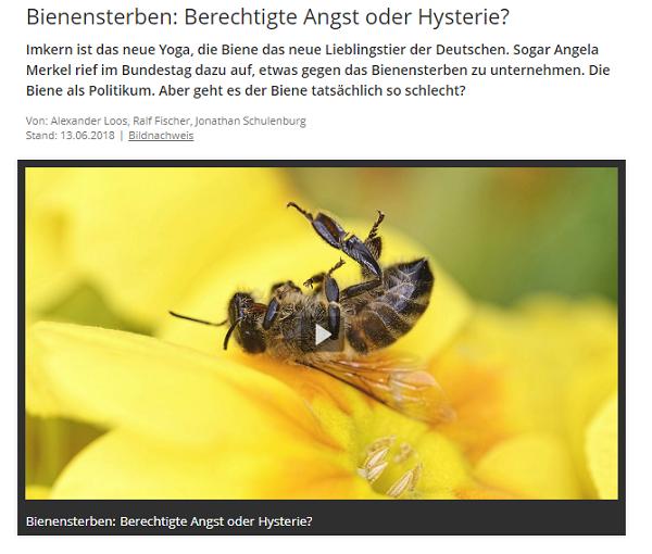 Snapshot von der Homepage des bayrischen Rundfunks zur Sendung