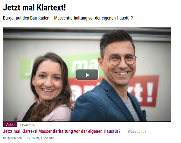 Snapshot von der Webseite des Hessischen Rundfunks- Klartext