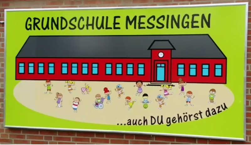 Logo der Grundschule Messingen (auch DU gehörst dazu)