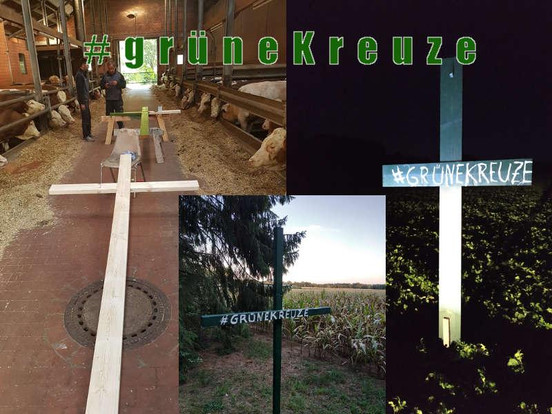 Die Botschaft hinter den grünen Kreuzen