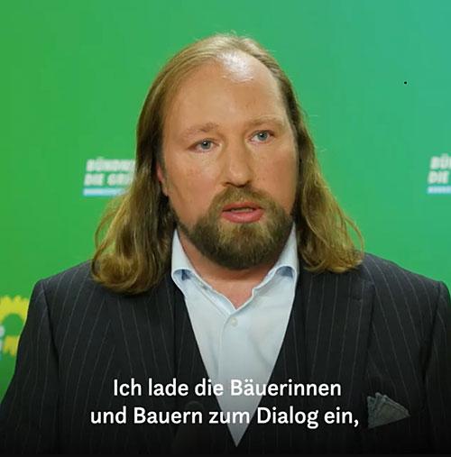 Porträtphoto des Grünen-Politikers Anton Hofreiter
