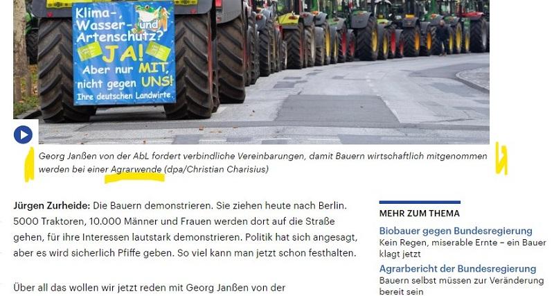Georg Janßen von der AbL fordert verbindliche Vereinbarungen, damit Bauern wirtschaftlich mitgenommen werden bei einer Agrarwende (dpa/Christian Charisius)