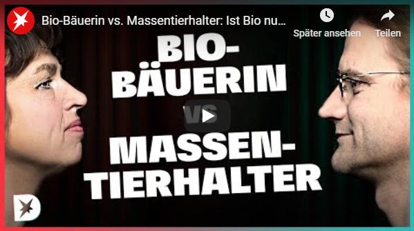Bio-Bäuerin vs. Massentierhalter