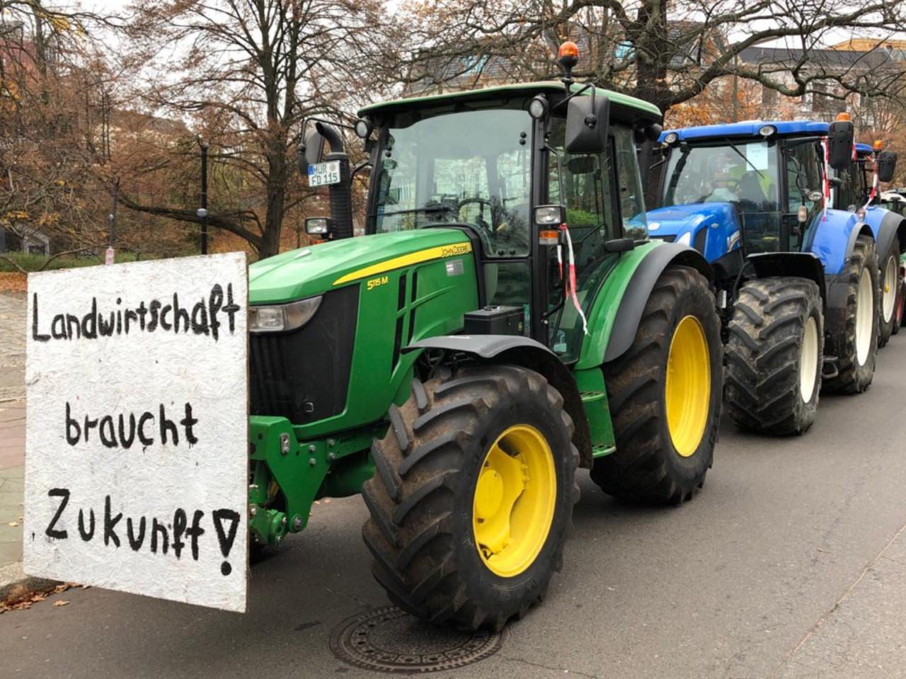 Bauernproteste bringen Botschaften in die Städte