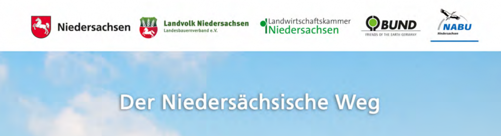 Ausschnit aus der Broschüre: Der niedersächsische Weg mit den Partnern Land Niedersachsen, Landvolk, Landwirtschaftskammer, BUND und NABU