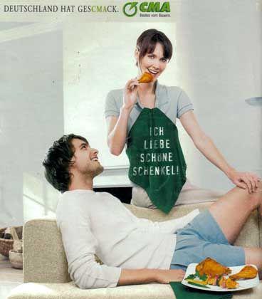 alte Werbung der CMA: Deutschland hat Geschmack, ich liebe schöne Schenkel