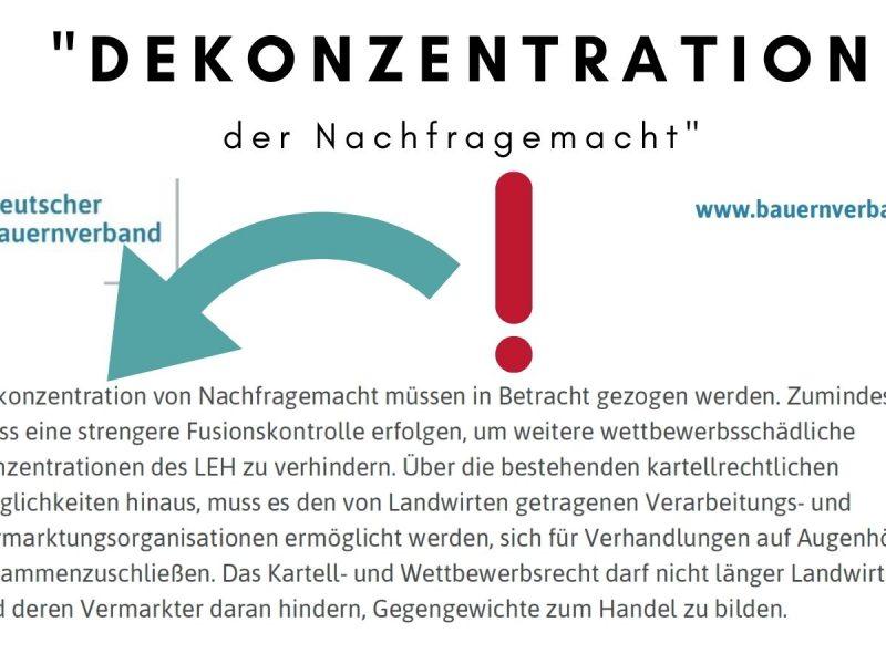 """DBV: """"Dekonzentration der Nachfragemacht"""""""