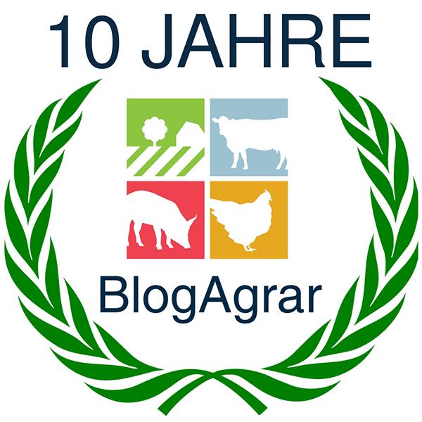 Jubiläumsgrafik: BlogAgrar feiert 10 jähriges Jubiläum