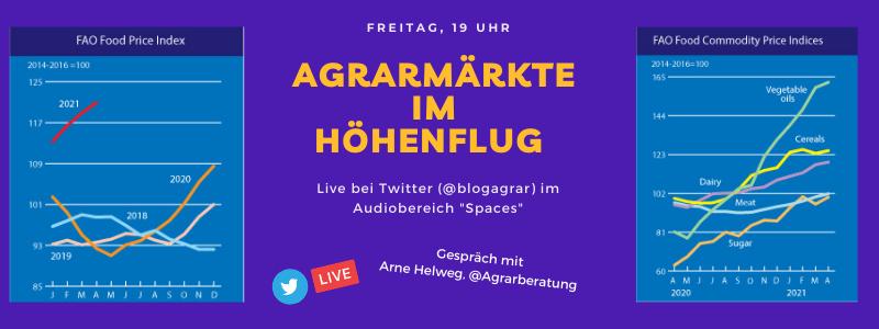 Live-Talk zum Thema Agrarmärkte