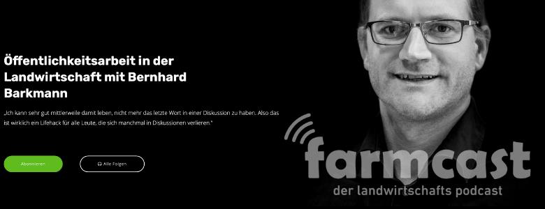 "Auftritt im Podcast ""Farmcast"""